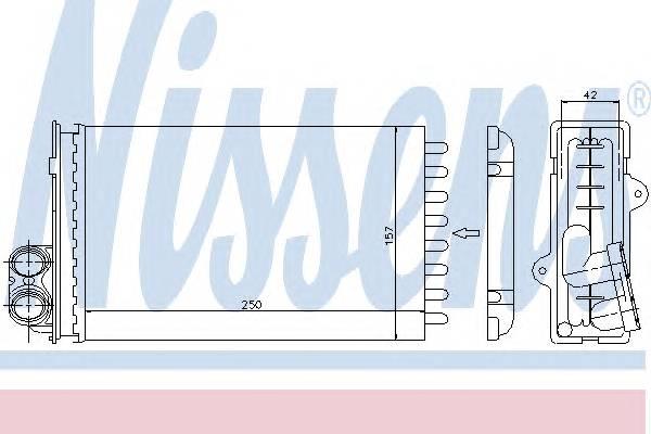NISSENS 72935 Теплообменник, отопление с�
