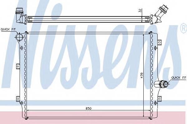 NISSENS 65281A Радиатор, охлаждение двига�