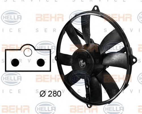 HELLA 8EW 009 158-761 Вентилятор, конденсатор ко�