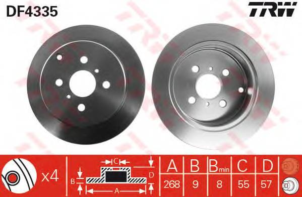 TRW DF4335 купить в Украине по выгодным ценам от компании ULC