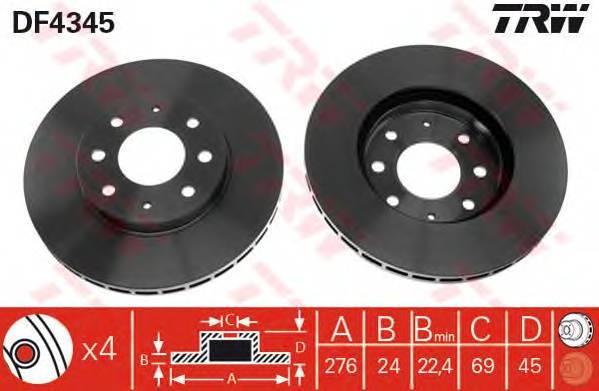 TRW DF4345 купить в Украине по выгодным ценам от компании ULC