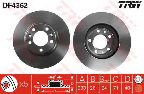 TRW DF4362 купить в Украине по выгодным ценам от компании ULC