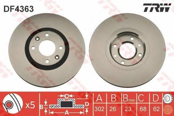 TRW DF4363 купить в Украине по выгодным ценам от компании ULC