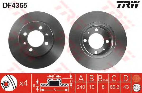 TRW DF4365 купить в Украине по выгодным ценам от компании ULC