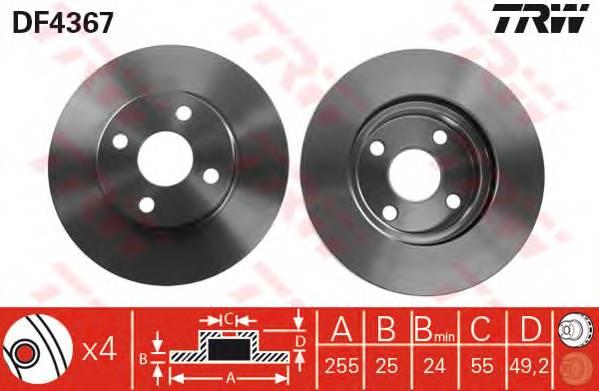 TRW DF4367 купить в Украине по выгодным ценам от компании ULC