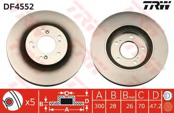 TRW DF4552 купить в Украине по выгодным ценам от компании ULC