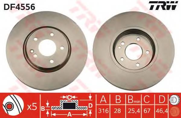 TRW DF4556 купить в Украине по выгодным ценам от компании ULC