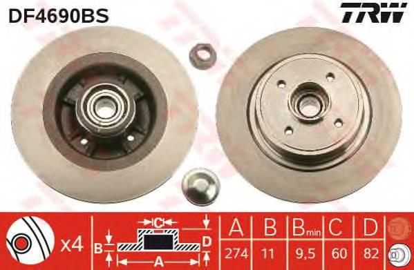 TRW DF4690BS купить в Украине по выгодным ценам от компании ULC