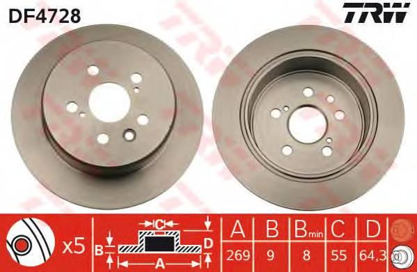 TRW DF4728 купить в Украине по выгодным ценам от компании ULC