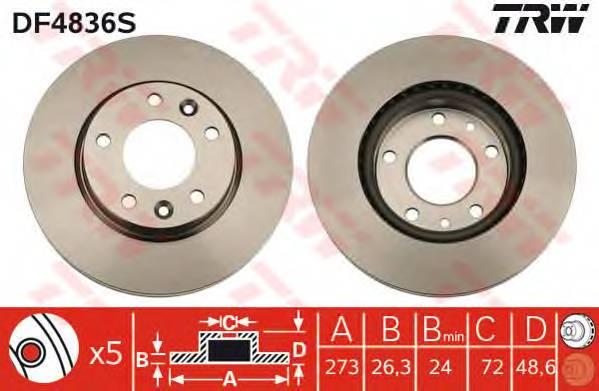 TRW DF4836S купить в Украине по выгодным ценам от компании ULC