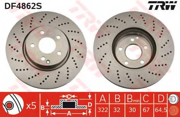 TRW DF4862S купить в Украине по выгодным ценам от компании ULC