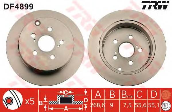 TRW DF4899 купить в Украине по выгодным ценам от компании ULC
