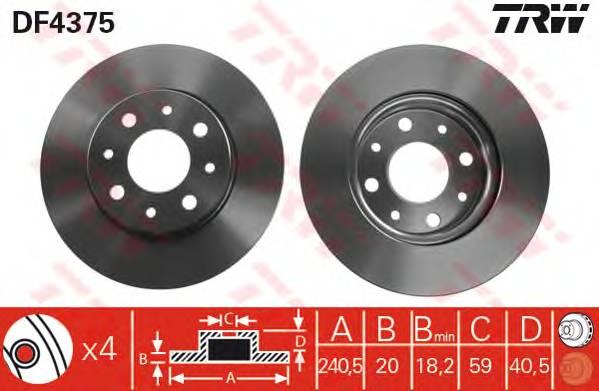 TRW DF4375 купить в Украине по выгодным ценам от компании ULC