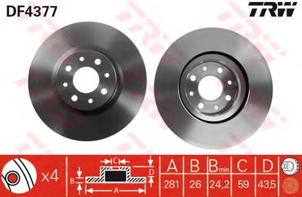 TRW DF4377 купить в Украине по выгодным ценам от компании ULC