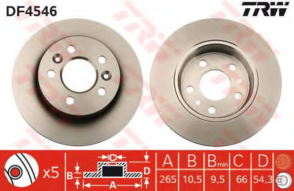 TRW DF4546 купить в Украине по выгодным ценам от компании ULC