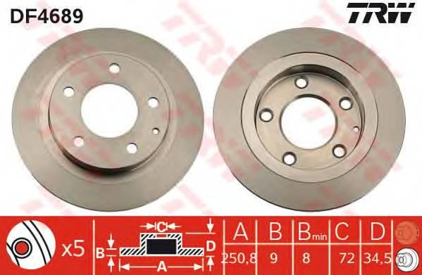 TRW DF4689 купить в Украине по выгодным ценам от компании ULC