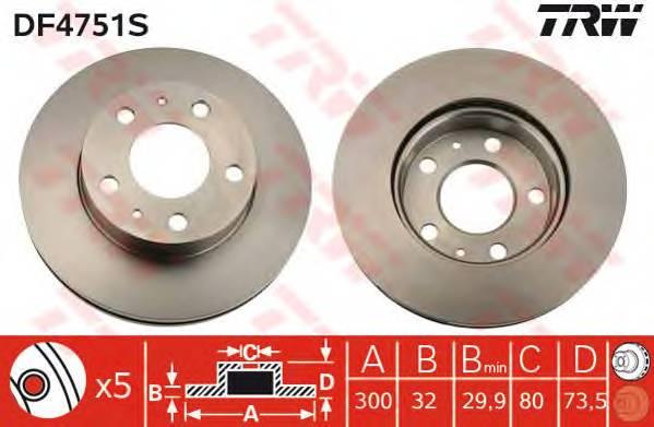 TRW DF4751S купить в Украине по выгодным ценам от компании ULC
