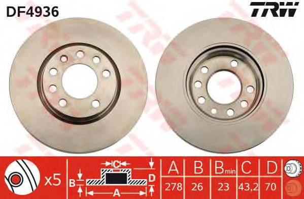 TRW DF4936 купить в Украине по выгодным ценам от компании ULC
