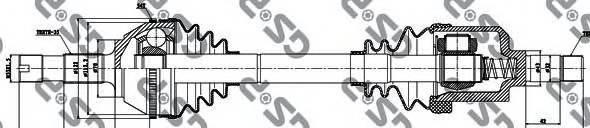 GSP 210033 Приводной вал