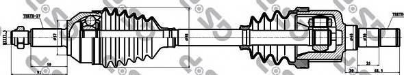 GSP 218143 Приводной вал