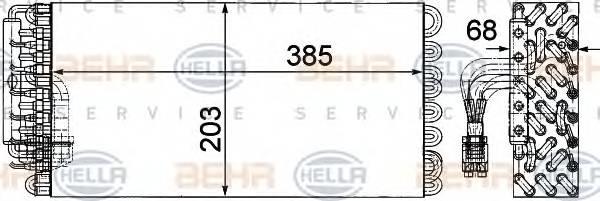 HELLA 8FV 351 330-101 Испаритель, кондиционер