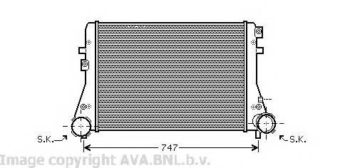 AVA QUALITY COOLING VW4227 Интеркулер