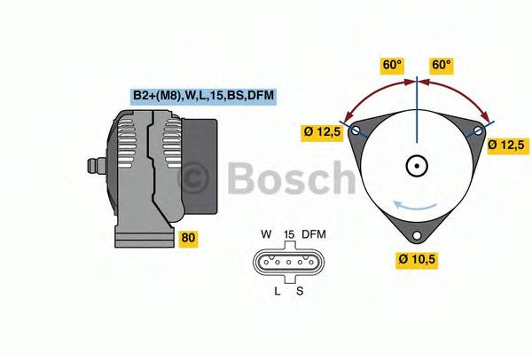 BOSCH 0 124 555 065 купить в Украине по выгодным ценам от компании ULC