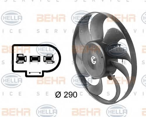 HELLA 8EW 009 144-601 Вентилятор, конденсатор ко�