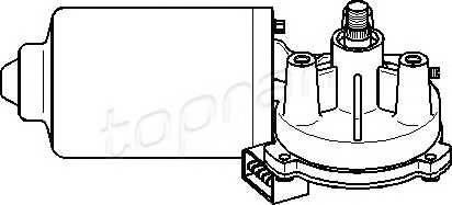TOPRAN 108 792 Двигатель стеклоочистител�