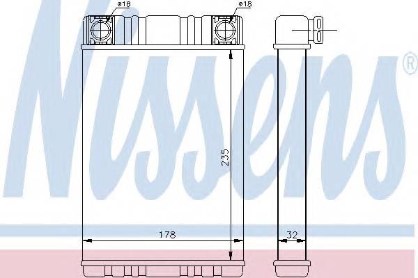 NISSENS 72028 Теплообменник, отопление с�