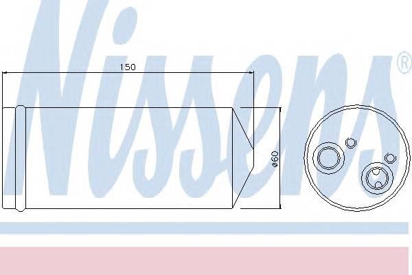 NISSENS 95139 Осушитель, кондиционер