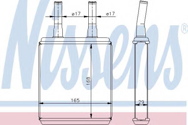 NISSENS 77604 Теплообменник, отопление с�