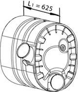 DINEX 80390 Средний глушитель выхлопны