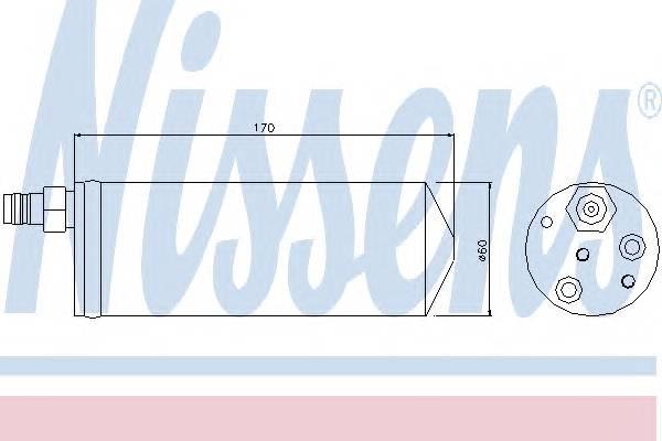 NISSENS 95363 Осушитель, кондиционер