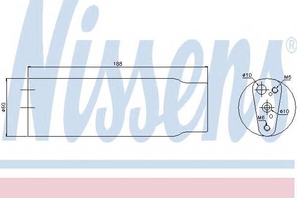 NISSENS 95170 Осушитель, кондиционер