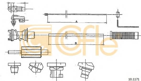 COFLE 10.1171 Трос педалi акселератора