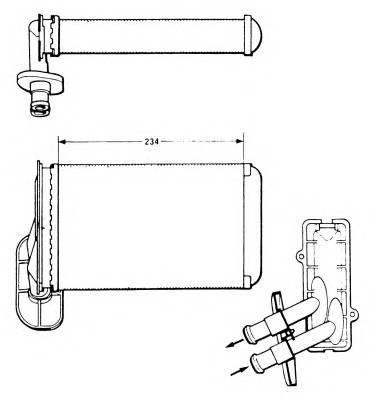 NRF 58622 Теплообменник, отопление с�