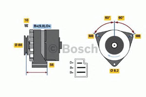 BOSCH 0 986 031 550 купить в Украине по выгодным ценам от компании ULC