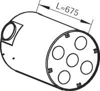 DINEX 80401 Средний глушитель выхлопны