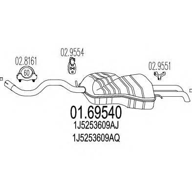 MTS 01.69540 Глушитель выхлопных газов �