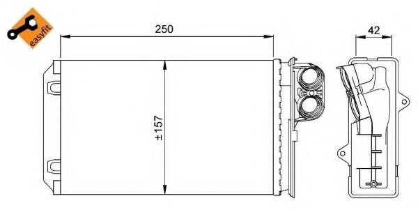 NRF 58629 Теплообменник, отопление с�