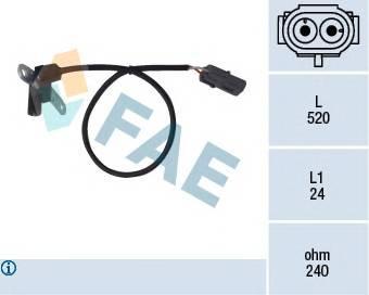 FAE 79024 Датчик импульсов, маховик; �