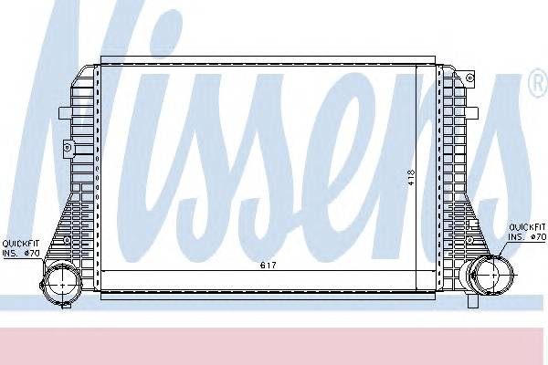 NISSENS 96715 Интеркулер
