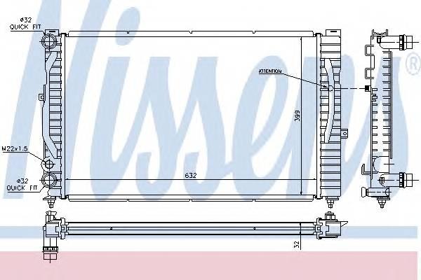 NISSENS 60299 Радиатор, охлаждение двига�