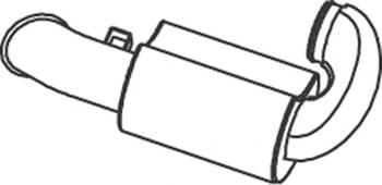 DINEX 81731 Глушитель выхлопных газов �