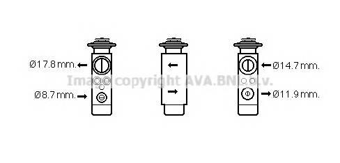 AVA QUALITY COOLING CN1219 Расширительный клапан, кон�