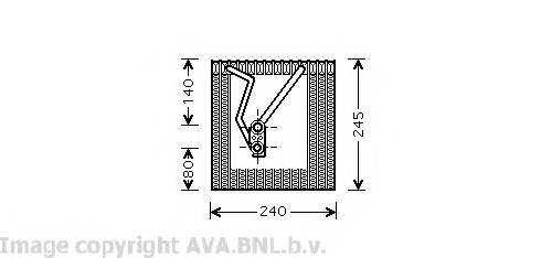 AVA QUALITY COOLING VWV241 Испаритель, кондиционер