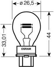 OSRAM 3157 Лампа накаливания, фонарь у