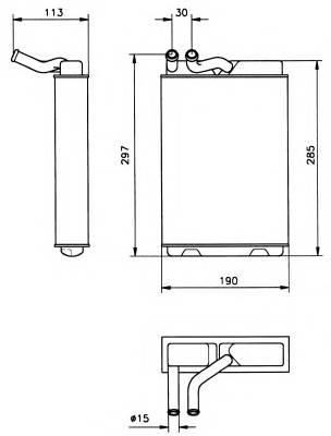 NRF 58149 Теплообменник, отопление с�