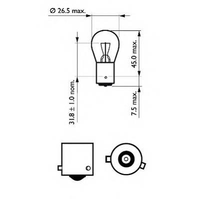 PHILIPS 12088CP Лампа накаливания, фонарь с